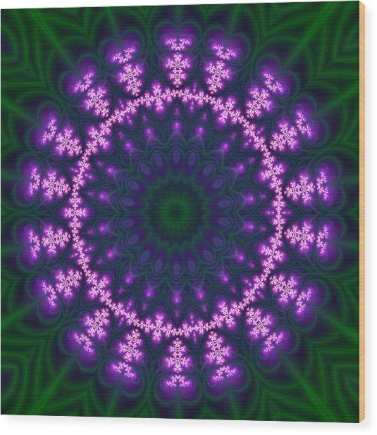 Transition Flower  Wood Print