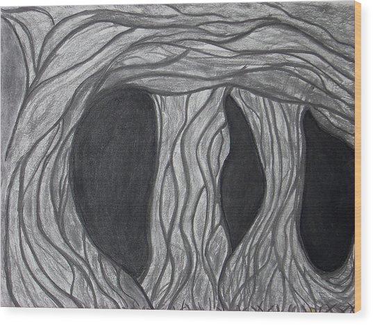 Trees Wood Print by Marsha Ferguson