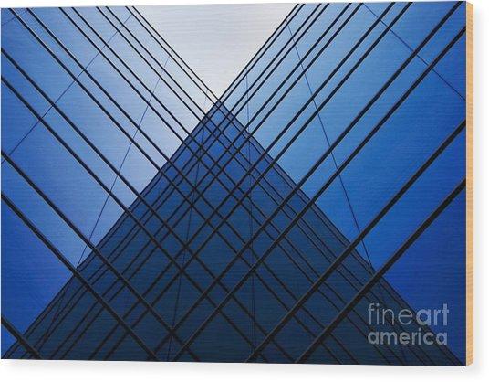 Triangle Reflection Wood Print by Hideaki Sakurai
