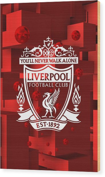 Tribute To Liverpool 3 Wood Print