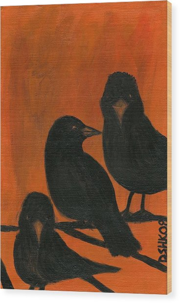 Trois Quervos Wood Print by Diane Korf