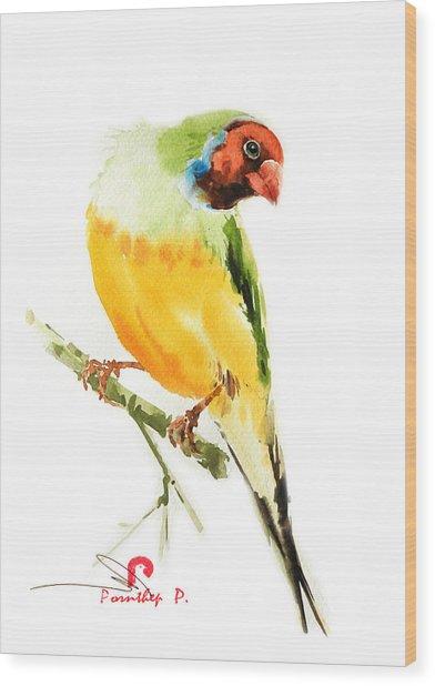 Tropical Bird Art Wood Print