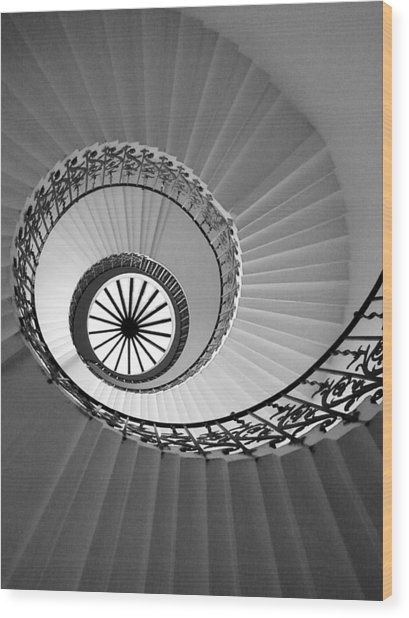 Tulip Staircase Wood Print
