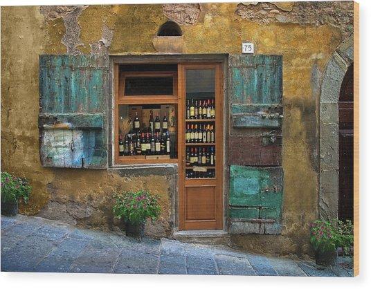 Tuscany Wine Shop 2 Wood Print
