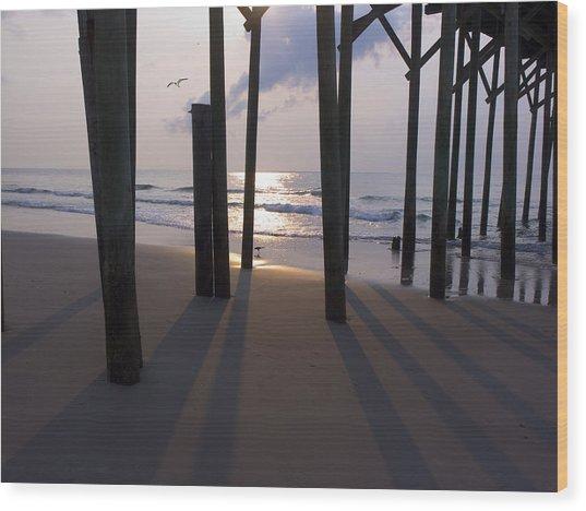 Under Pier Wood Print by Paul Boroznoff