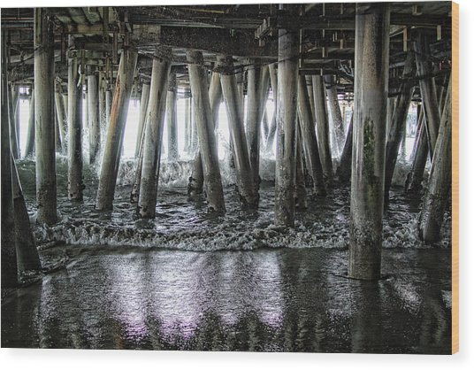 Under The Pier 2 Wood Print