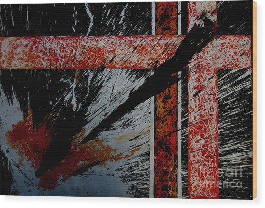 Fencing-2 Wood Print