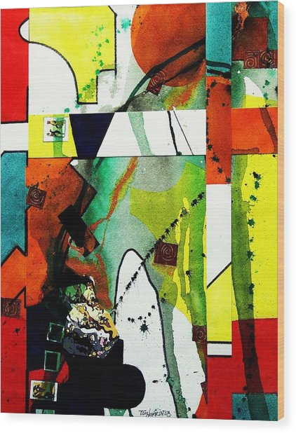 Untitled Abstract Wood Print by Tom Herrin