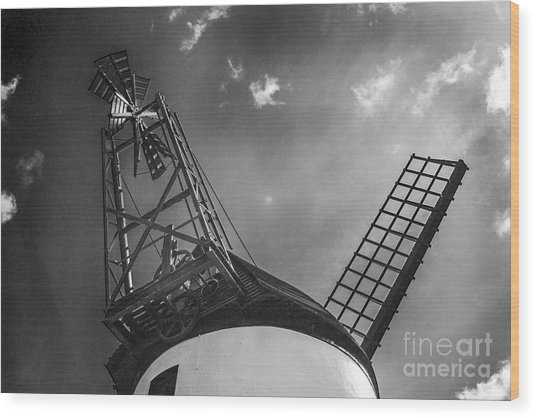 Unusual View Of Windmill - St Annes - England Wood Print