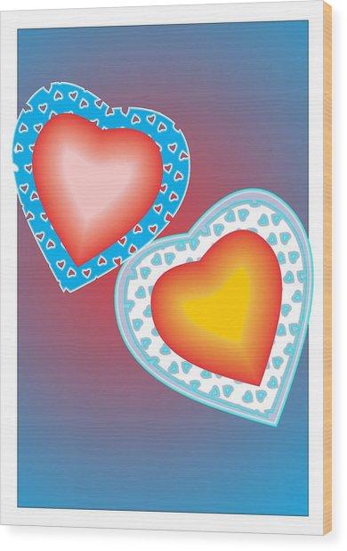 Valentine Lace Wood Print