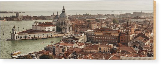 Wood Print featuring the photograph Venice Grand Canal by Songquan Deng