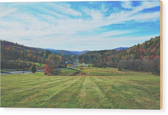 Vermont Fall Vista Wood Print