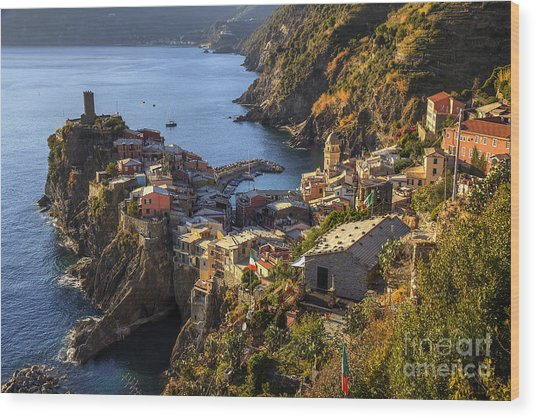 Vernazza Wood Print
