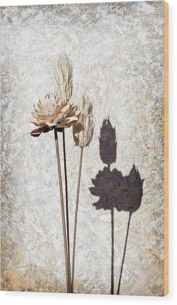 Vintage Floral 1 Wood Print