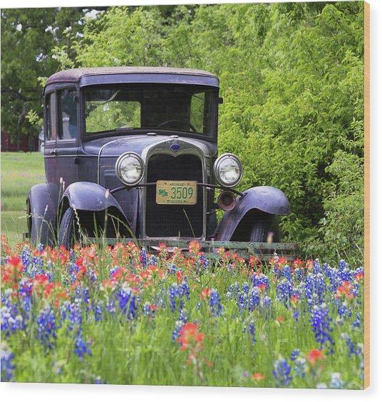 Vintage Ford Automobile Wood Print