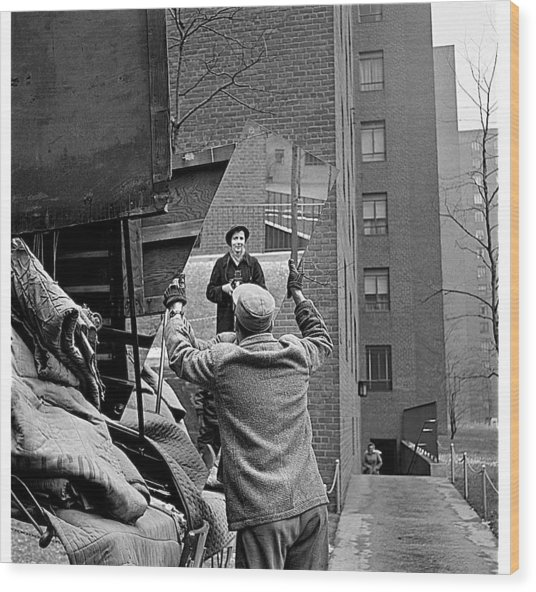 Vivian Maier Self Portrait Probably Taken In Chicago Illinois 1955 Wood Print