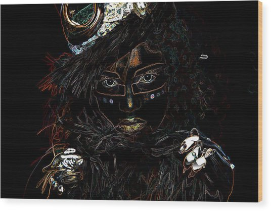 Voodoo Woman Wood Print