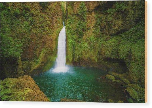 Wahclella Falls Columbia River Gorge Wood Print