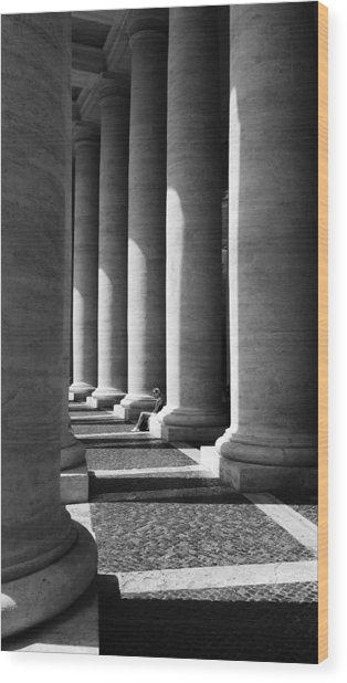 Wood Print featuring the digital art Waiting At St Peters by Julian Perry