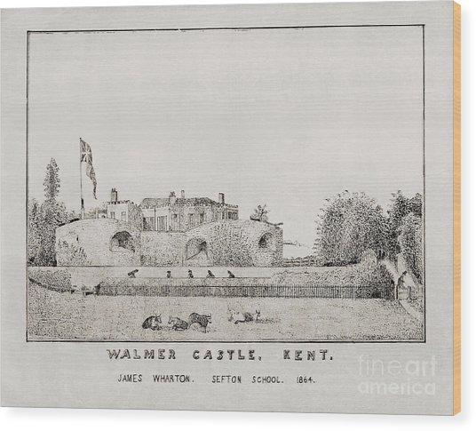 Walmer Castle Kent Wood Print