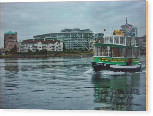 Water Bus Wood Print by Anastasia Michaels