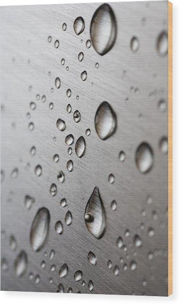 Water Drops Wood Print