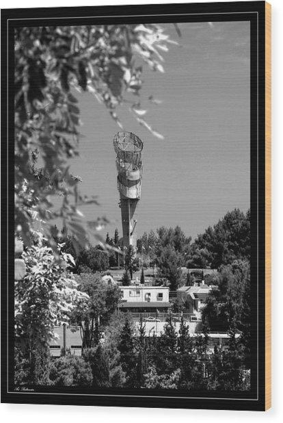 Water Tower Wood Print by Arik Baltinester