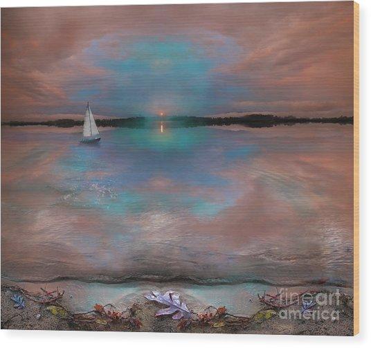 Waters Edge Wood Print