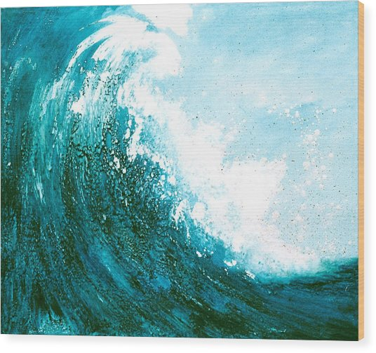 wave I Wood Print by Martine Letoile
