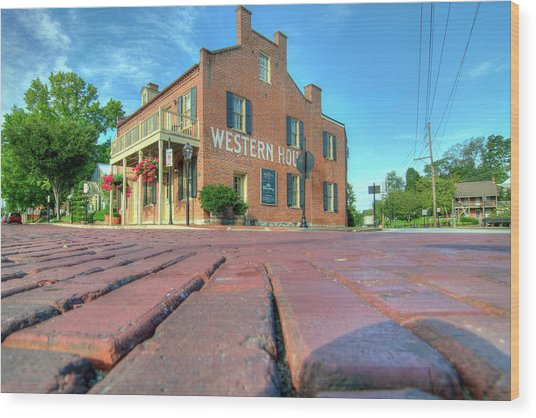 Western House Wood Print