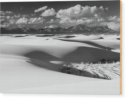 White Sands Afternoon Wood Print
