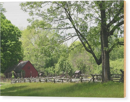 Wick Farm At Jockey Hollow Wood Print