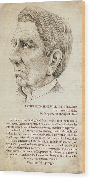 William Seward Wood Print