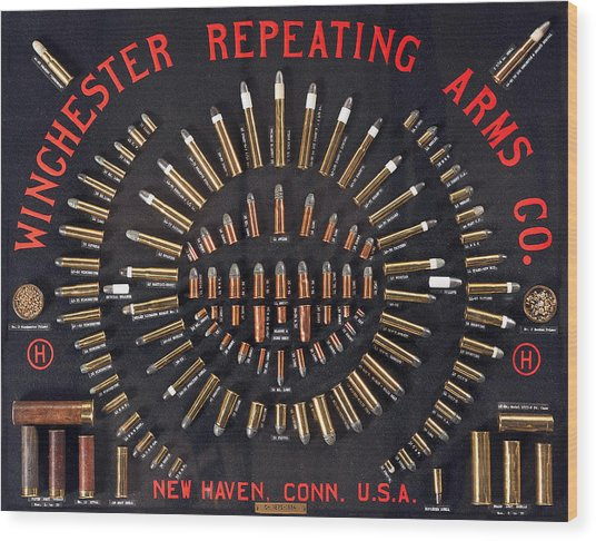 Winchester Repeating Arms Cartridge Board Wood Print