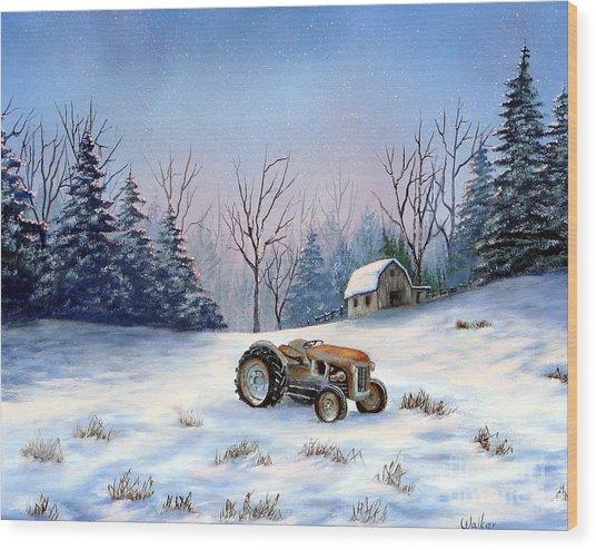 Winter Rest Wood Print