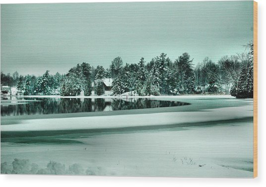 Winter Stream Wood Print by Rick Couper