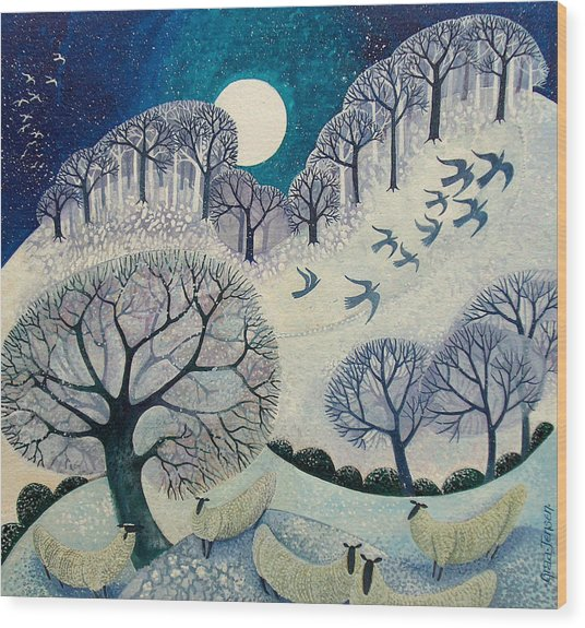 Winter Woolies Wood Print