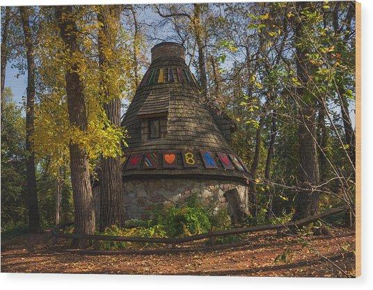 Witch's Hut Wood Print by Bryan Scott