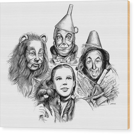 Wizard Of Oz Wood Print