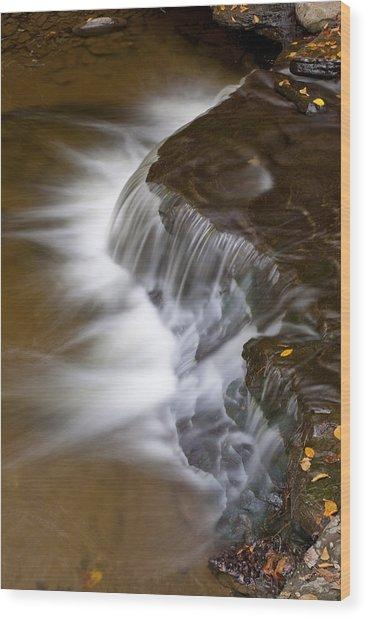 Wolf Creek At Letchworth State Park Wood Print