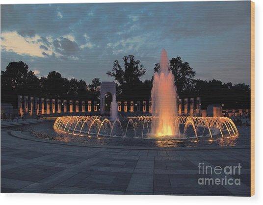World War II Memorial Fountain Wood Print