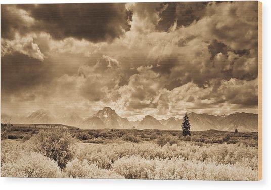 Wyoming Sky Wood Print by Patrick  Flynn