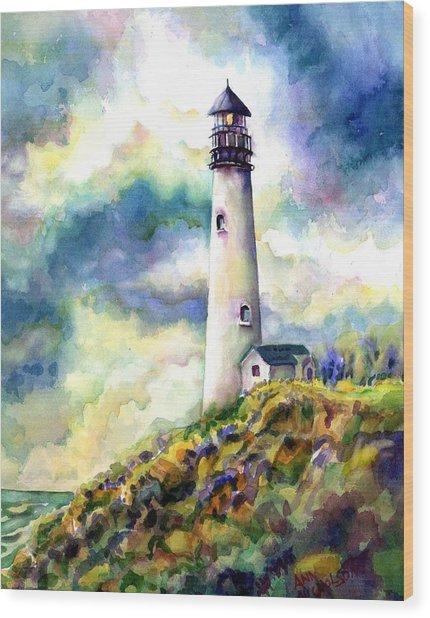 yaquina Head Lighthouse Wood Print