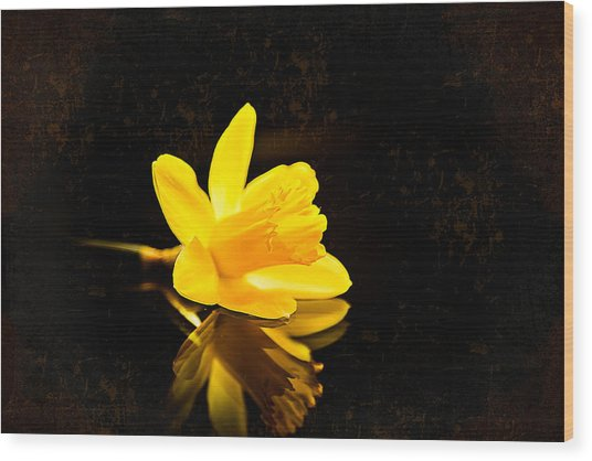 Yellow Dreams Wood Print