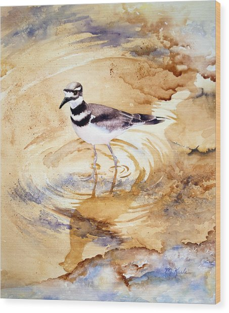 Yellowstone Killdeer Wood Print