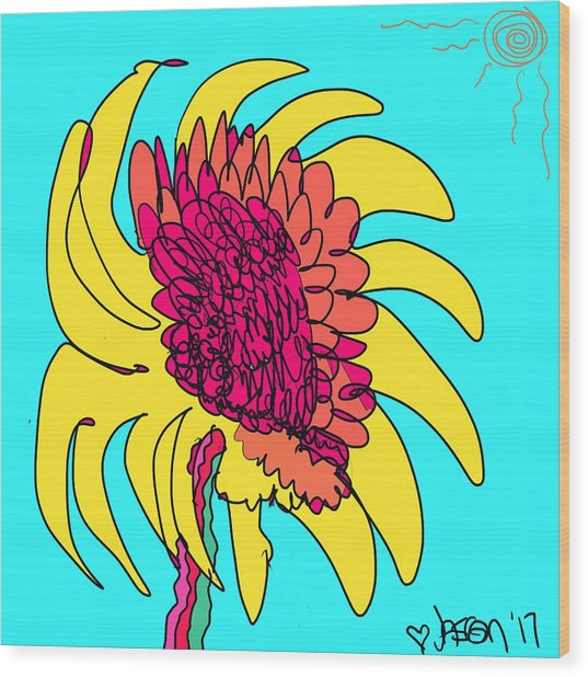 Yes. This Is A Flower, Child Wood Print