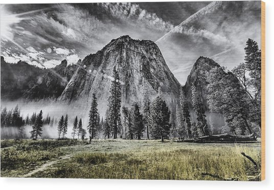 Yosemite Dawn Wood Print