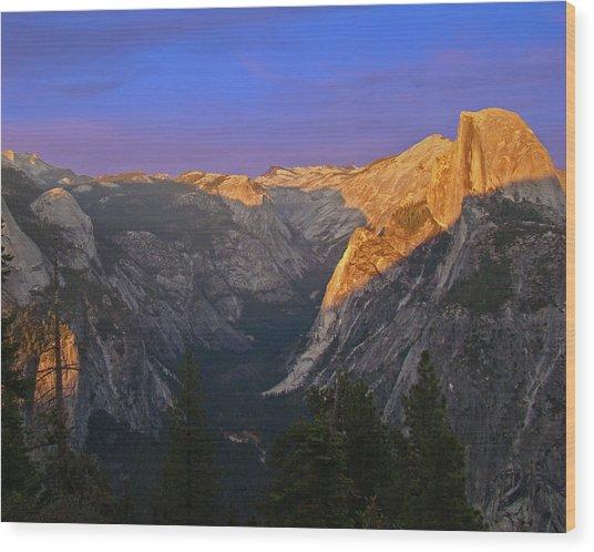 Yosemite Summer Sunset 2012 Wood Print