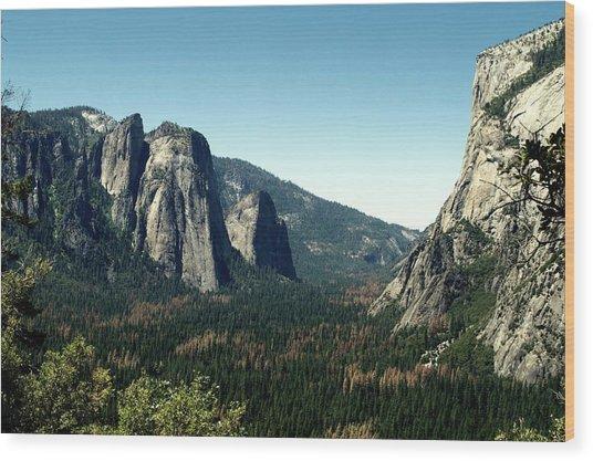 Yosemite Valley Wood Print by Nick Jones