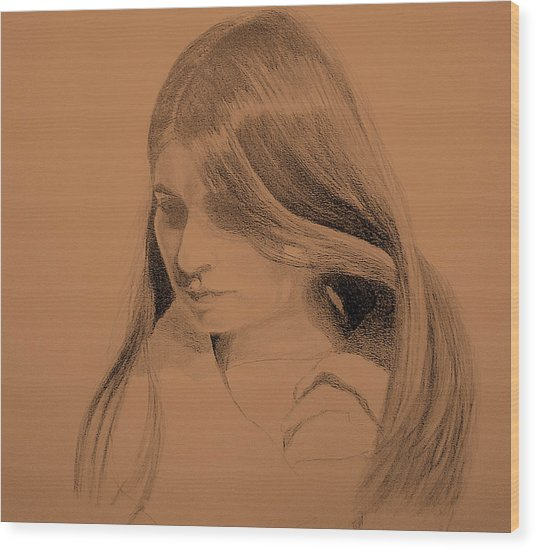 Young Woman Wood Print by Susan Tilley